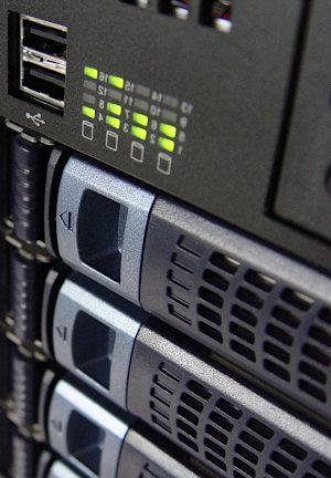 Photo of server in racks