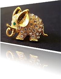 Produkt Foto goldener Anstecker Elefant