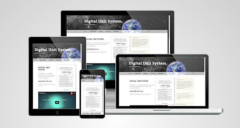 Website Digital Unit System in different screenshots