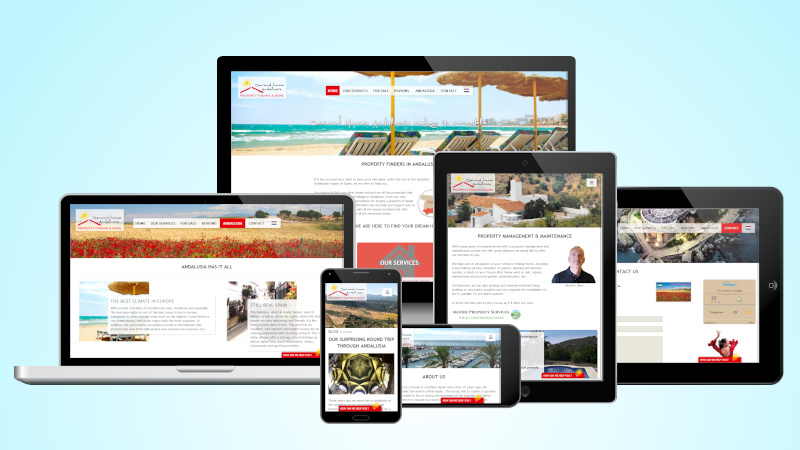 Website Real Estate Second Home Andalusia in different screenshots
