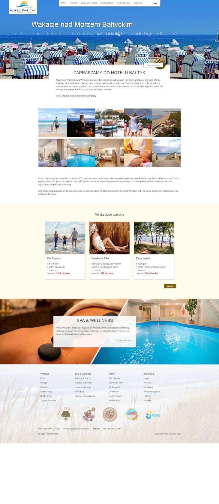 Websit ecase study Homepage